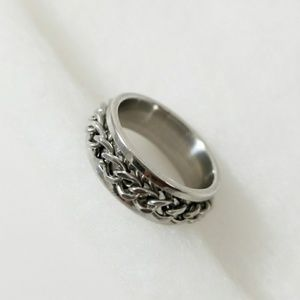 Other - Ball & Chain Spinner Stainless Steel Mens Ring